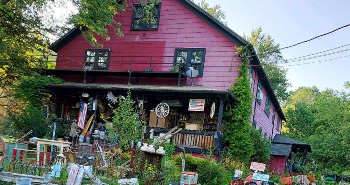 Antique store and apartment building